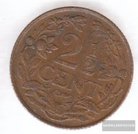 Curacao Km-number. : 42 1947 Very Fine Bronze Very Fine 1947 2 Cents Leo - Curaçao