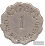 Cyprus Km-number. : 23 1942 Very Fine Bronze Very Fine 1942 1 Piastre George VI. - Cyprus
