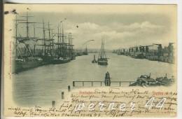Stettin V. 1900 Der Freihafen  (1740) - Pommern