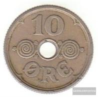 Denmark Km-number. : 822 1929 Very Fine Copper-Nickel Very Fine 1929 10 Öre Gekröntes Monogram - Denmark