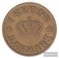 Denmark Km-number. : 824 1926 Very Fine Aluminum-Bronze Very Fine 1926 1 Crown Gekröntes Monogram - Denmark