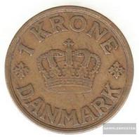 Denmark Km-number. : 824 1934 Very Fine Aluminum-Bronze Very Fine 1934 1 Crown Gekröntes Monogram - Denmark