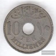 Egypt Km-number. : 316 1917 Very Fine Copper-Nickel  1917 10 Milliemes Hussein Kamil - Egypt