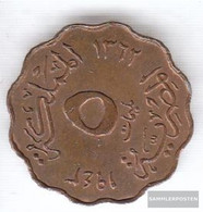 Egypt Km-number. : 360 1938 Very Fine Bronze Very Fine 1938 5 Milliemes Farouk - Egypt