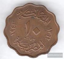 Egypt Km-number. : 361 1938 Very Fine Bronze Very Fine 1938 10 Milliemes Farouk - Egypt