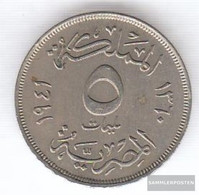 Egypt Km-number. : 363 1938 Very Fine Copper-Nickel Very Fine 1938 5 Milliemes Farouk - Egypt