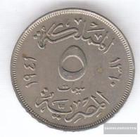 Egypt Km-number. : 363 1941 Very Fine Copper-Nickel Very Fine 1941 5 Milliemes Farouk - Egypt