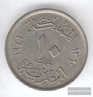 Egypt Km-number. : 364 1938 Very Fine Copper-Nickel Very Fine 1938 10 Milliemes Farouk - Egypt