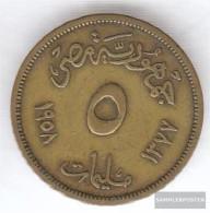 Egypt Km-number. : 379 1958 Very Fine Aluminum-Bronze Very Fine 1958 5 Milliemes Sphinx - Egypt