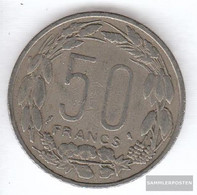Equatorial-Africa-States Km-number. : 3 1961 Very Fine Copper-Nickel Very Fine 1961 50 Francs Antelope - Coins