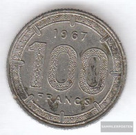 Equatorial-Africa-States Km-number. : 5 1966 Very Fine Nickel Very Fine 1966 100 Francs Antelope - Coins