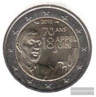 France 2010 Stgl./unzirkuliert Stgl./unzirkuliert 2010 2 Euro 70 Years Apell Through De Gaul - France