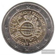 France 2012 Stgl./unzirkuliert Stgl./unzirkuliert 2012 2 Euro 10 Years Euro Cash - France