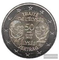 France 2013 Stgl./unzirkuliert Stgl./unzirkuliert 2013 2 Euro 50 Years Elysée-Contract - France