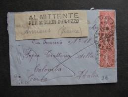 Se L 69-TB Enveloppe Affranchie Avec N° 199 X 3 ;  De Amiens Pour L'Italie  ( 27/ 02 / 1928 ). - Marcophilie (Lettres)