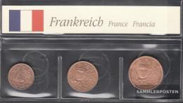 France F1 - 3 Stgl./unzirkuliert Mixed Vintages Stgl./unzirkuliert 1999-2001 Kursmünze 1, 2 & 5 Cent - France