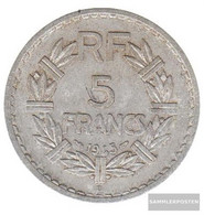 France Km-number. : 888 1949 B Extremely Fine Aluminum Extremely Fine 1949 5 Francs Laureate - France