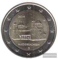 FRD (FR.Germany) 2014 F Stgl./unzirkuliert Stgl./unzirkuliert 2014 2 Euro Michaelis Church Hildesheim - Germany