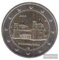FRD (FR.Germany) 2014 J Stgl./unzirkuliert Stgl./unzirkuliert 2014 2 Euro Michaelis Church Hildesheim - Germany