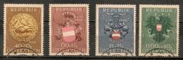 Timbres - Autriche - 1949 - N° 937 à 940 - Insurance -