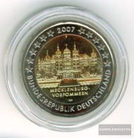 FRD (FR.Germany) Jägernr: 526 2007 F Stgl./unzirkuliert Stgl./unzirkuliert 2007 2 Euro Schweriner Castle - Germany