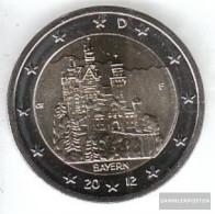FRD (FR.Germany) Jägernr: 568 2012 F Stgl./unzirkuliert Stgl./unzirkuliert 2012 2 Euro Castle Neuschwanstein - Germany