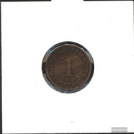 German Empire Jägernr: 10 1906 A Extremely Fine Bronze Extremely Fine 1906 1 Pfennig Large Imperial Eagle - [ 2] 1871-1918 : German Empire