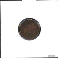 German Empire Jägernr: 10 1908 F Very Fine Bronze Very Fine 1908 1 Pfennig Large Imperial Eagle - [ 2] 1871-1918 : German Empire