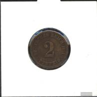 German Empire Jägernr: 11 1907 A Very Fine Bronze Very Fine 1907 2 Pfennig Large Imperial Eagle - Slovenia