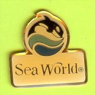 Pin's Sea World Baleine Orque - 2X20 - Tiere