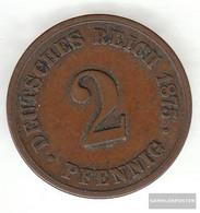German Empire Jägernr: 2 1876 F Fine Bronze Fine 1876 2 Pfennig Smaller Imperial Eagle - Slovenia