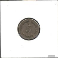 German Empire Jägernr: 3 1875 B Fine Copper-Nickel Fine 1875 5 Pfennig Smaller Imperial Eagle - [ 2] 1871-1918 : German Empire