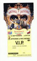 Qualité SUP : Billet D´entrée Concert Dangerous De Michael JACKSON !!! - Tickets De Concerts