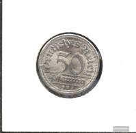 German Empire Jägernr: 301 1921 D Extremely Fine Aluminum Extremely Fine 1921 50 Pfennig Ährengarbe - 50 Rentenpfennig & 50 Reichspfennig