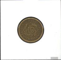 German Empire Jägernr: 309 1924 F Very Fine Aluminum-Bronze Very Fine 1924 10 Rentenpfennig Spikes - Yugoslavia