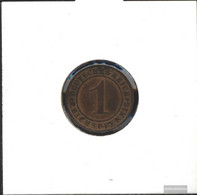 German Empire Jägernr: 313 1925 G Very Fine Bronze Very Fine 1925 1 Reich Pfennig Ährengarbe - Switzerland