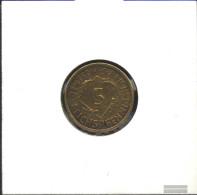 German Empire Jägernr: 316 1924 D Very Fine Aluminum-Bronze Very Fine 1924 5 Reich Pfennig Spikes - Vatican