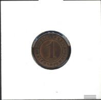 German Empire Schönnr: 313 1924 D Very Fine Bronze Very Fine 1924 1 Reich Pfennig Ährengarbe - [ 3] 1918-1933 : Weimar Republic