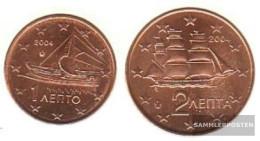 Greece GR1 - 2 2004 Stgl./unzirkuliert Stgl./unzirkuliert 2004 Kursmünze 1 And 2 Cent - Greece