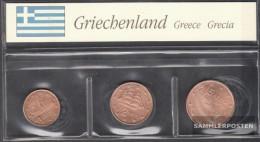 Greece GR1 - 3 Stgl./unzirkuliert Mixed Vintages Stgl./unzirkuliert 2002-2005 Kursmünze 1, 2 And 5 Cent - Greece