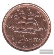 Greece Grams 2 2011 Stgl./unzirkuliert Stgl./unzirkuliert 2011 Kursmünze 2 Cent - Greece