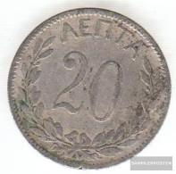 Greece Km-number. : 57 1894 Very Fine Copper-Nickel Very Fine 1894 20 Lepta Crown - Grecia