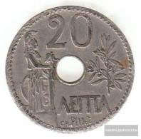 Greece Km-number. : 64 1912 Very Fine Nickel Very Fine 1912 20 Lepta Crown - Greece