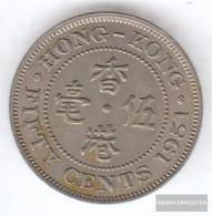 Hong Kong 27 1951 Very Fine Copper-Nickel Very Fine 1951 50 Cents George VI. - Hong Kong