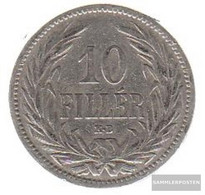 Hungary Km-number. : 482 1894 Very Fine Nickel Very Fine 1894 10 Filler Crown - Hungary