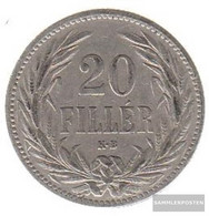 Hungary Km-number. : 483 1893 Very Fine Nickel Very Fine 1893 20 Filler Crown - Hungary