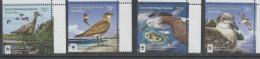 COCOS, 2015, MNH, WWF, BIRDS, 4v - W.W.F.