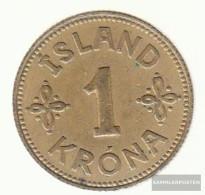 Iceland Km-number. : 3 1940 Very Fine Aluminum-Bronze Very Fine 1940 1 Krona Gekröntes Crest - Iceland