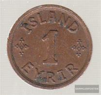 Iceland Km-number. : 5 1942 Extremely Fine Bronze Extremely Fine 1942 1 Eyrir Gekröntes Monogram - Iceland