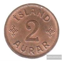 Iceland Km-number. : 6 1938 Very Fine Bronze Very Fine 1938 2 Aurar Gekröntes Monogram - Iceland